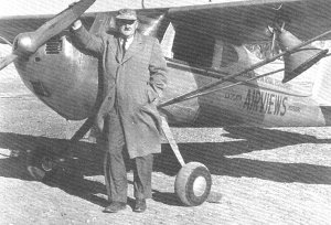 Lester Dent with his Plane